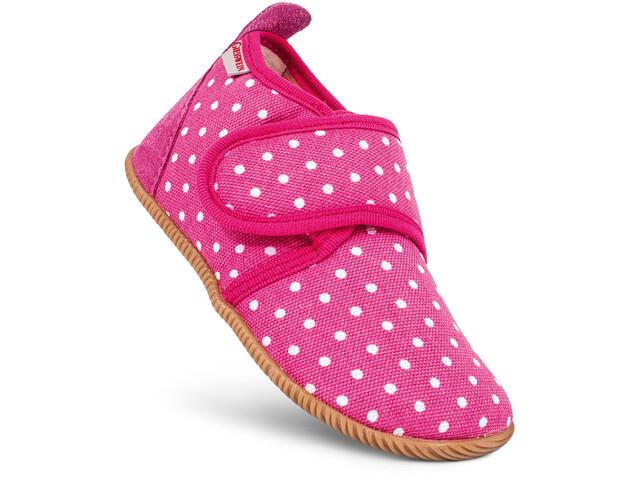 Giesswein Stans Zapatillas de estar por casa Slim Fit Niños, rosa/blanco